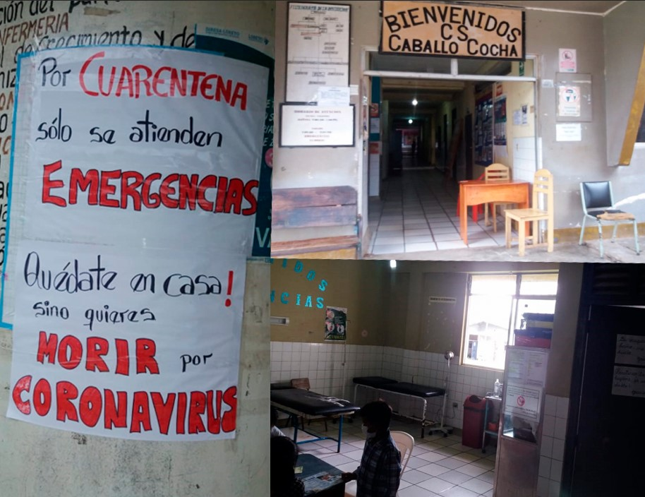 Photo: Caballococha Hospital only attends emergencies, does not serve people with COVID 19 because it does not have any safety equipment, or rapid tests (Image taken on April 14) / Source: Orpio